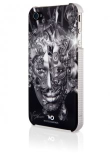 White Diamonds Apple iPhone 4 Case Mechanist Chrome