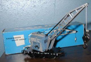 Marklin Vintage 4611 Krupp Ardelt Crane Truck Boxed