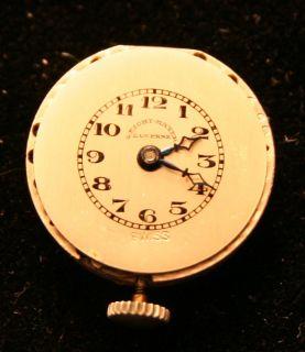 Argent Dore Enamel Sterling Marcasite Watch Necklace