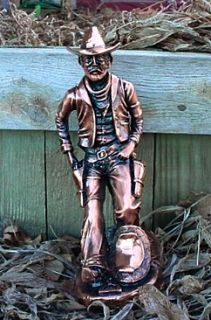 10 TALL Western Cowboy #1, Antique Copper METAL FINISH Figurine