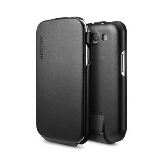 SPIGEN SGP Samsung Galaxy S3 Leather Case Argos Black