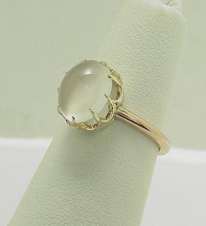Mesmerizing Antique Victorian 14k Moonstone Claw Ring
