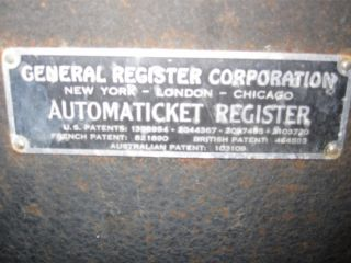 Antique Movie Theater Ticket Register Automaticket Heavy Metal Sturdy