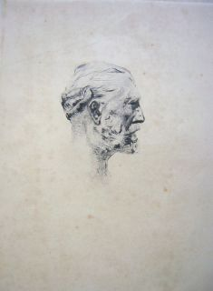 Auguste Rodin Antonin Proust Portrait RARE 1890s French Hand Signed