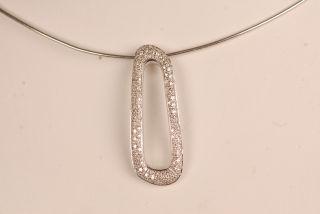 Antonini Diamond and 18K White Gold Pendant from The Barcelona