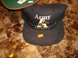 Army Black Knights 1990s Hat Cap Vintage Snapback