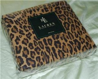 RALPH LAUREN Aragon Leopard TWIN SHEET SET NEW 1ST QUALITY NIP