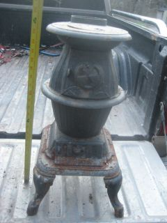 Antique Pot Belly Wood Stove No 29 Union Vintage Potbelly Woodstove