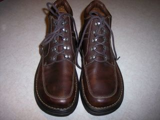 Mens Born Ankle Boots Lace Up Size 9 Brown Leather