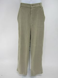 ARNOLD ZIMBERG STUDIO Mens Tan Stretch Khaki Cotton Straight Leg Pants