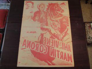 Original Mexican Movie Poster ahi Viene Martin Corona Pedro Infante
