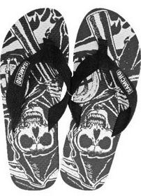 of Anarchy Mens Reaper Flip Flops 2012 New Apparel Accessories