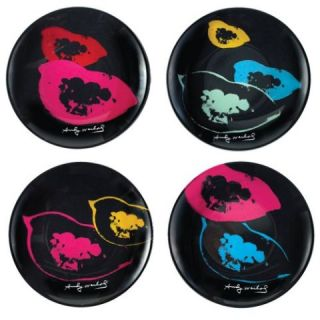 Andy Warhol Fantastic in Plastic Marilyn Lip Appetizer Plates