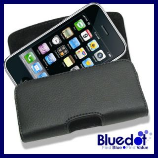 AT&T Apple iPhone 4S 4 S 4G Leather Case Belt Clip Cover Pouch