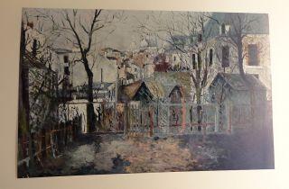 Maurice Utrillo Renoirs Garden Print 21 5 x 31 75