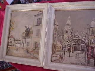 Maurice Utrillo Paris Le Village Inspire Very Nice