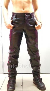 Mens Black Leather Look PVC Jeans 26 28 30 32 34 36 38 40