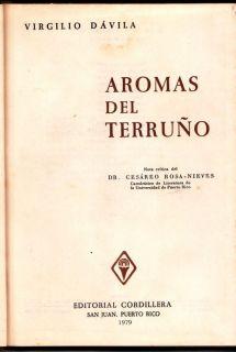 Virgilio Davila Aromas Del Terruno Poesia Puerto Rico