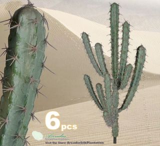 bidding on Six Pieces of 33 Artificial Finger Cactus Desert Plants