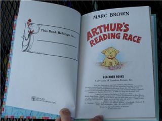 Arthurs Reading Race, Marc Brown, I Can Read It Beginner Book, VG