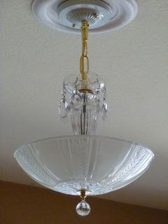 Antique Vintage Art Deco Chandelier Ceiling Light Fixture