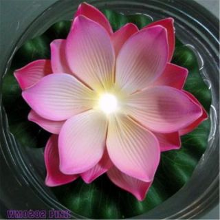Floating lotus flower light Silk Flowers Artificial Plants water lily