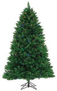 Pine Pre Lit Artificial Christmas Tree 300 Mini LED Lights
