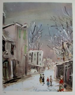 Maurice Utrillo 1955 Signed Lithograph Saint Vincent