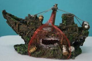Aquarium Decoration 10 Shipwreck Ornament @ Tropical Fish Marine or