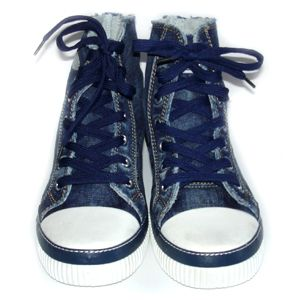 8003 Quality Canvas Shoes. HIGH TOP NEW NAVY Size 8   Chuck