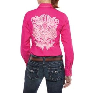 new with tags 10009805 ariat women s ashby snap shirt pink
