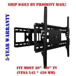 SINGLE ARM ARTICULATING LED LCD PLASMA TV TILT WALL MOUNT 32 37 42 46