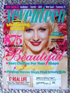 Seventeen Magazine March 2006 Ashlee Simpson Wet Seal Clothes