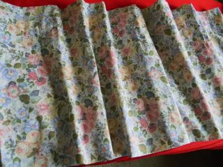 Window Valance Laura Ashley floral pink blue yellow green 84 x 18
