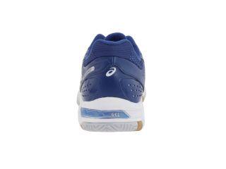 ASICS Womens GEL Rocket 5 Shoe Sneaker White Jet Blue Lightning