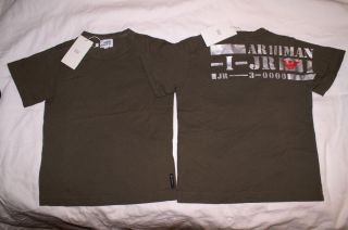 Armani Junior Brand New Olive Green Army T Shirt Boys Girls Size 5 7