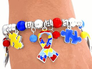 Awareness Ribbon Puzzle Asperger Cancer Kid Children Jewelry