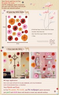 CP 008 Gerbera Flower Wall Art Deco Decal Mural Sticker