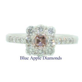 00 Fancy Pink Asscher Cut GIA Diamond Engagement Anniversary