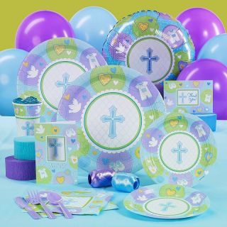 SWEET BLESSING BABY BOY BLUE BAPTISM / CHRISTENING PARTY PACK FOR 8