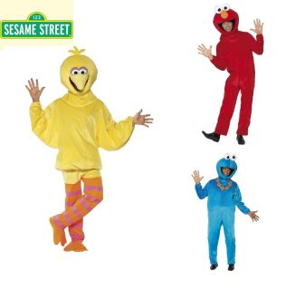 Sesame Street Full Body Mascot Mens Ladies Fancy Dress Costume 80s TV