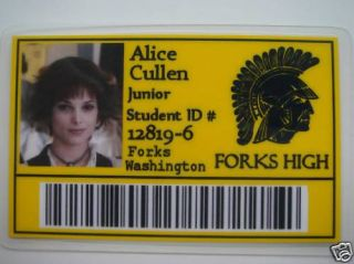 Alice Cullen Student ID Novelty Card Ashley Greene