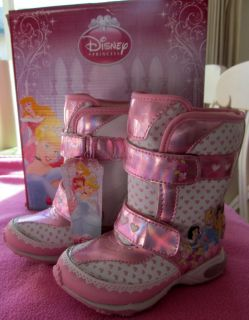 DISNEY PRINCESS CINDERELLA BELLE SNOW WHITE WINTER SNOW BOOTS