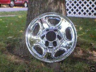 01 02 Silverado Suburban Astro Chrome Wheel Skins 16