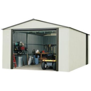 Arrow Murryhill 12 x 10 Vinyl Coated Steel Tractor Tool Storage Shed