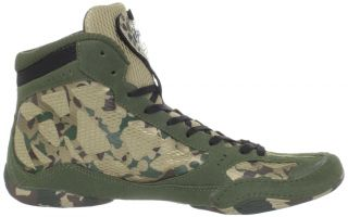 Mens Asics Split Second 9 Wrestling Shoe Camo Green