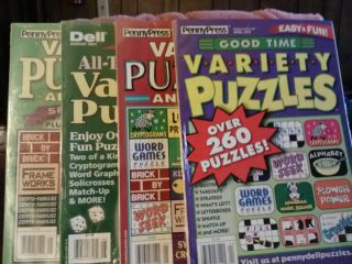 PennyPress/Dell Variety Puzzle Books  New Cryptograms,Fill ins