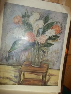 Maurice Utrillo V from Lily Pons Collection Plate Sixteen Flower