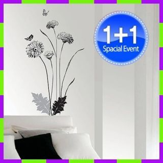 SS 228 Deco Flower Wall Art Paper Sticker Decals