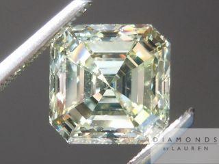 Greenish Yellow VS2 Asscher Cut GIA R4857 Diamonds by Lauren